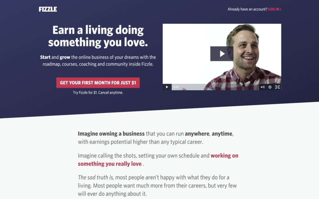 Fizzle is one of the membership websites for small business owners