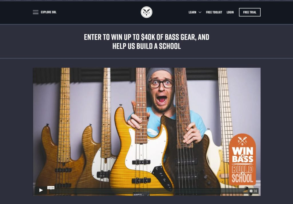 Scott's Bass Lessons is one of the many musical membership websites
