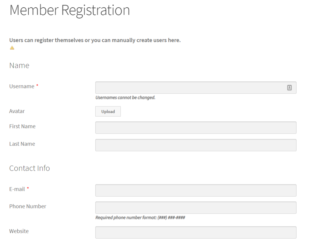 Custom WordPress Registration form with fields