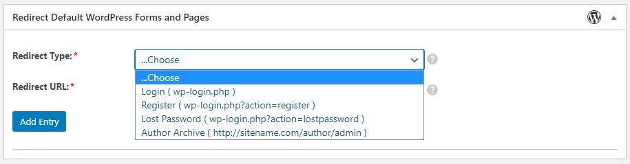 WordPress Profile Builder plugin custom redirects choose page