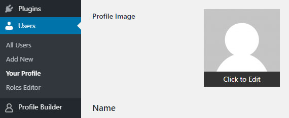 Upload a User Profile Image
