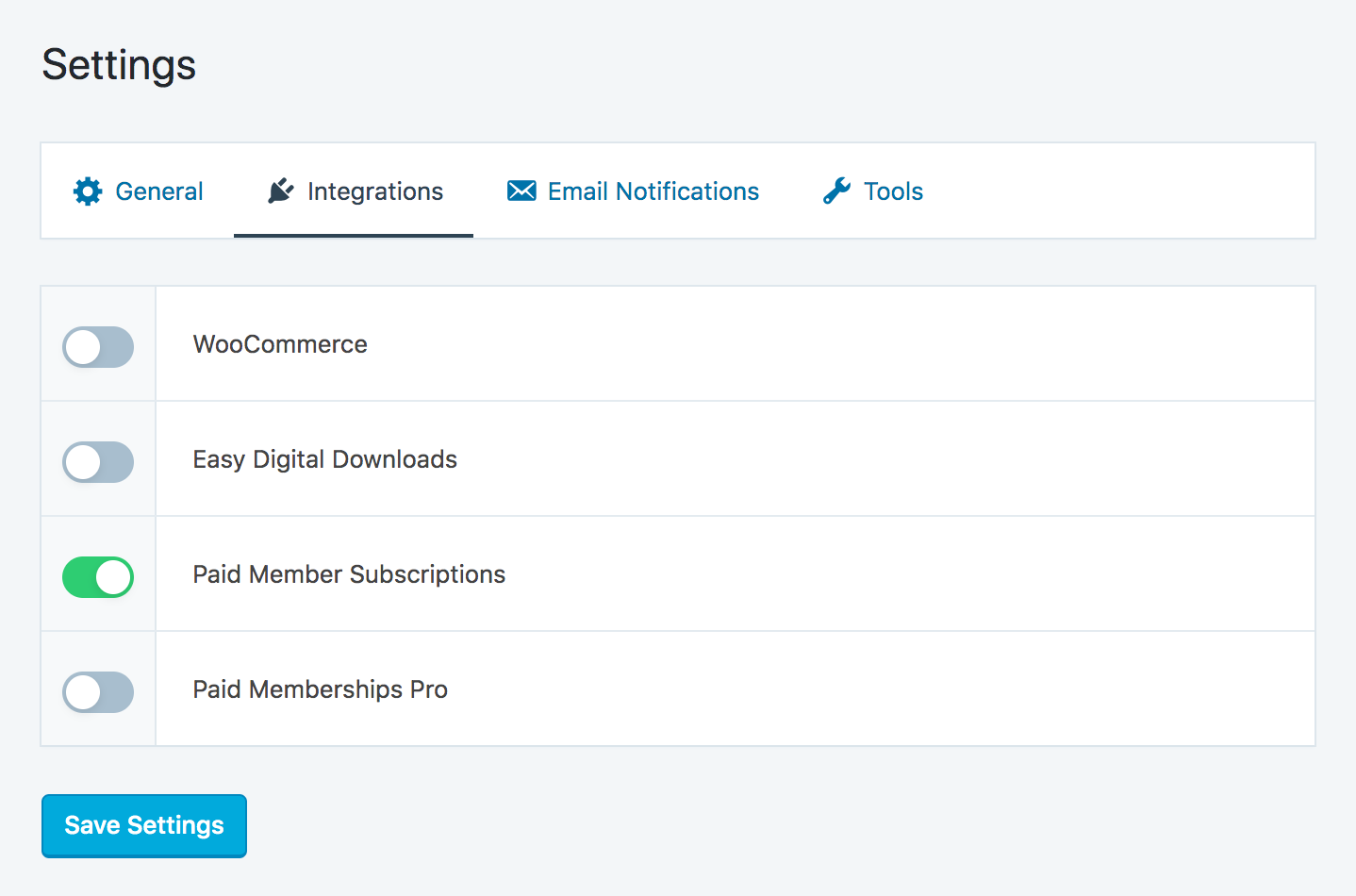 Paid Member Subscription - SliceWP enable integration