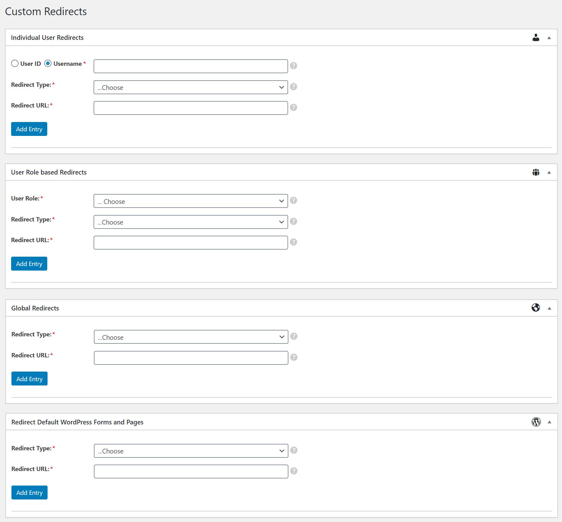 WordPress Profile Builder Pro - custom redirects