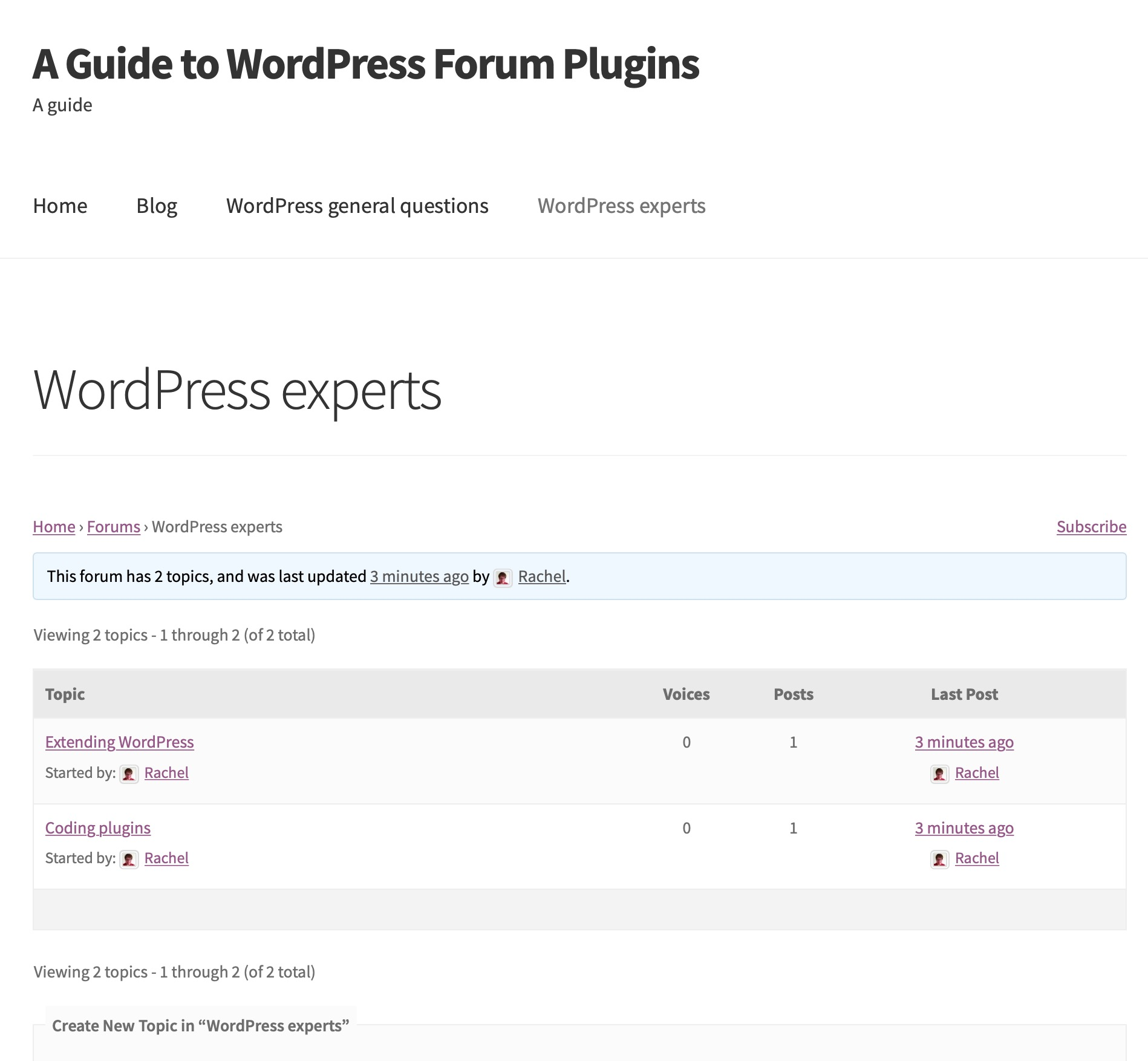 Forum on front-end