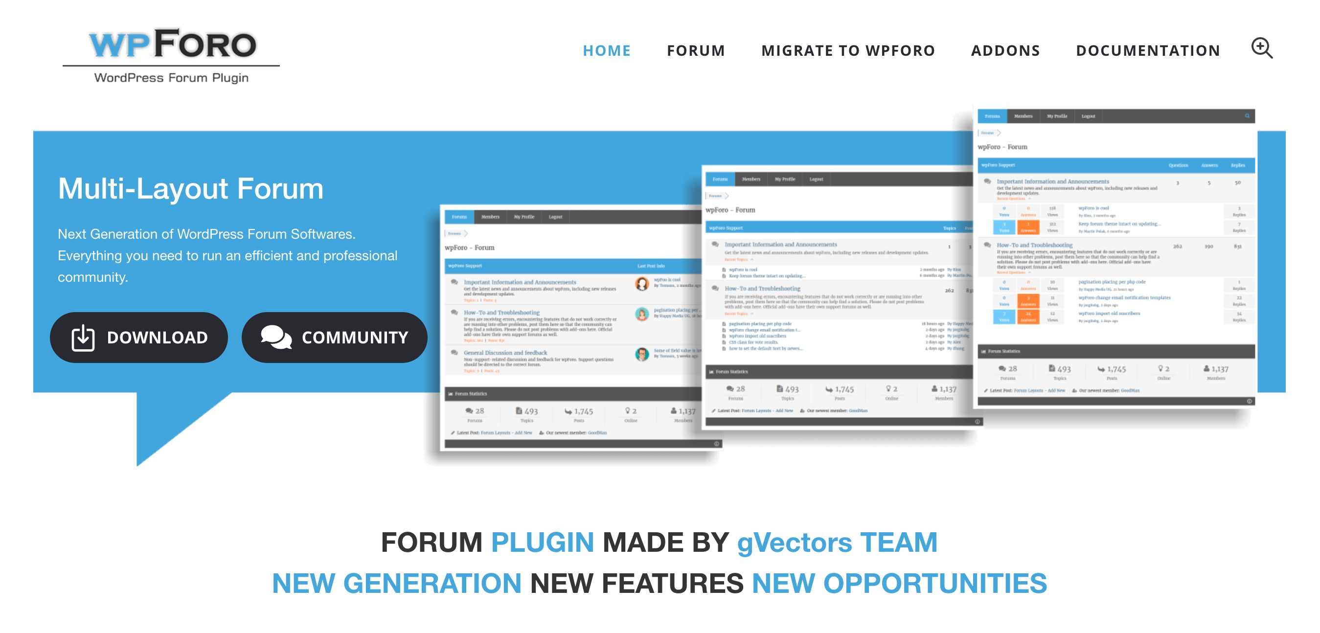 wpForo website