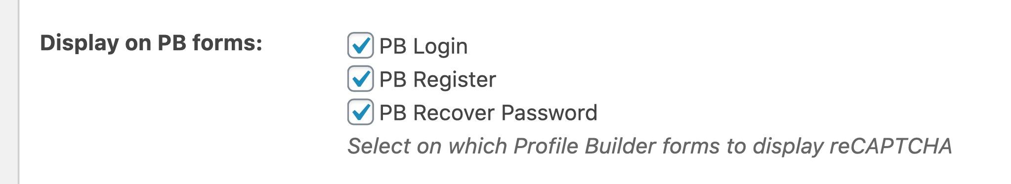 check the PB login option for ReCaptcha