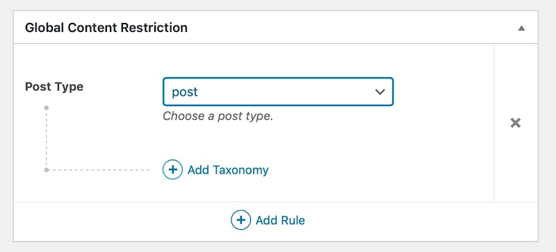 Screenshot of adding a taxonomy