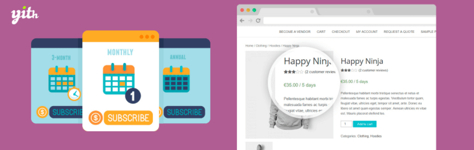 yith woocommerce subscription plugin