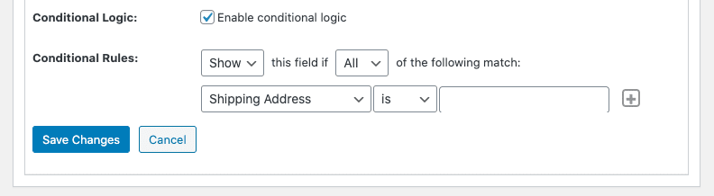 Posts Builder enable conditional logic checkbox