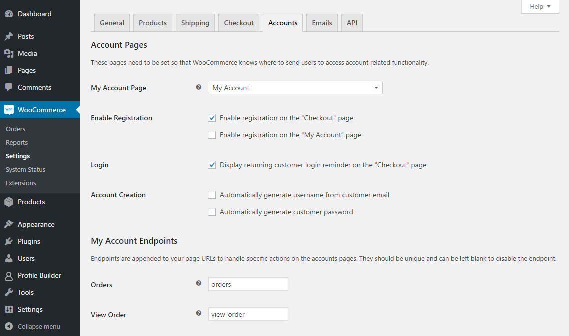 WooComerce Sync Enable Registration on Checkout