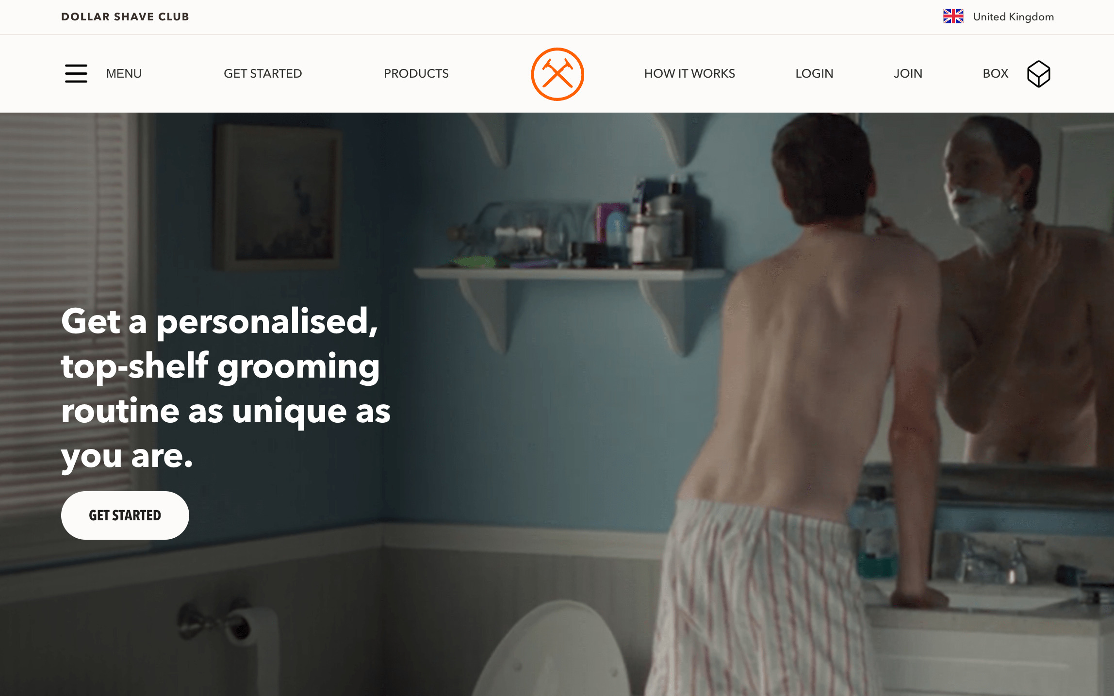 Dollar shave club is a good example of a subscription website