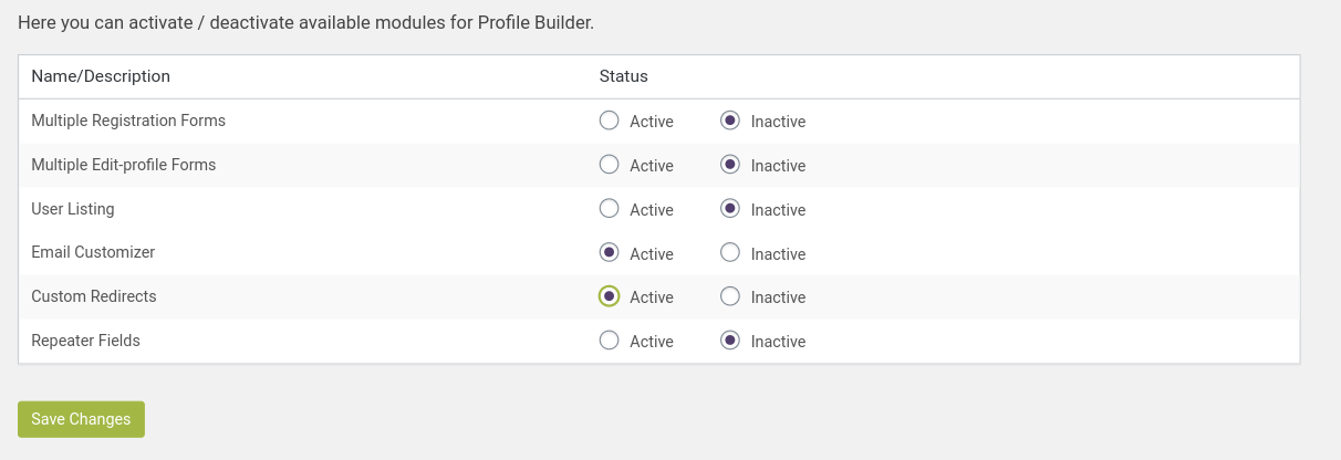 Profile Builder pro email customizer