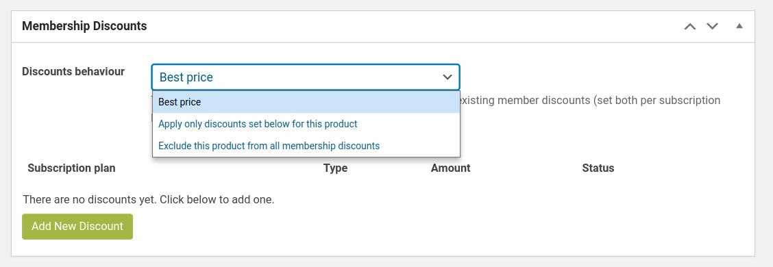 WooCommerce Membership WooCommerce product discount