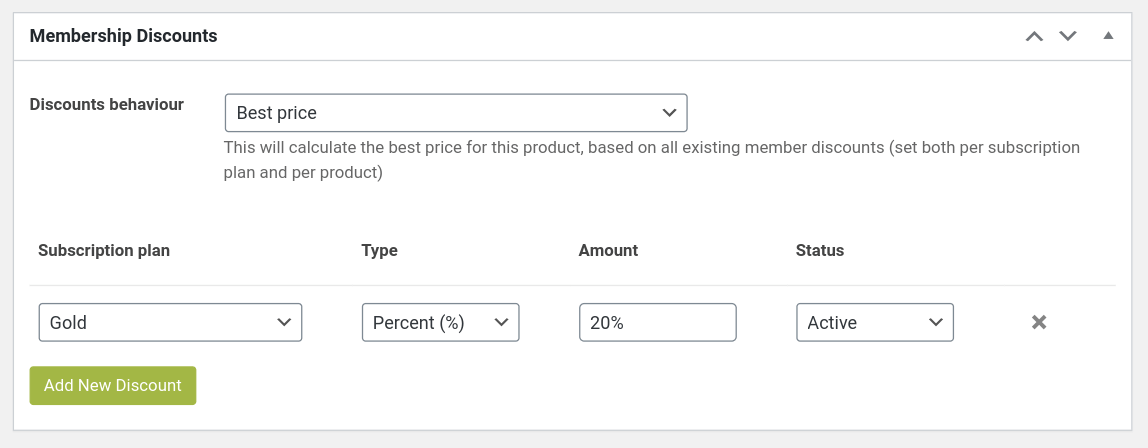 set woocommerce membership discount