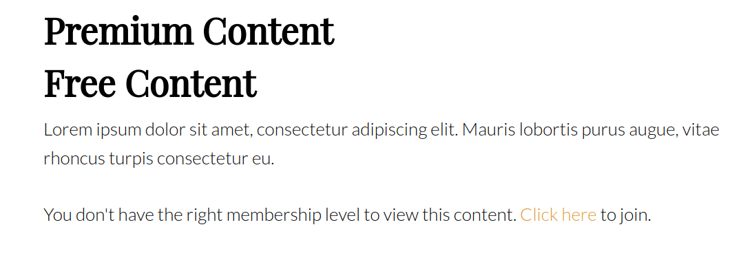 content restriction shortcode example
