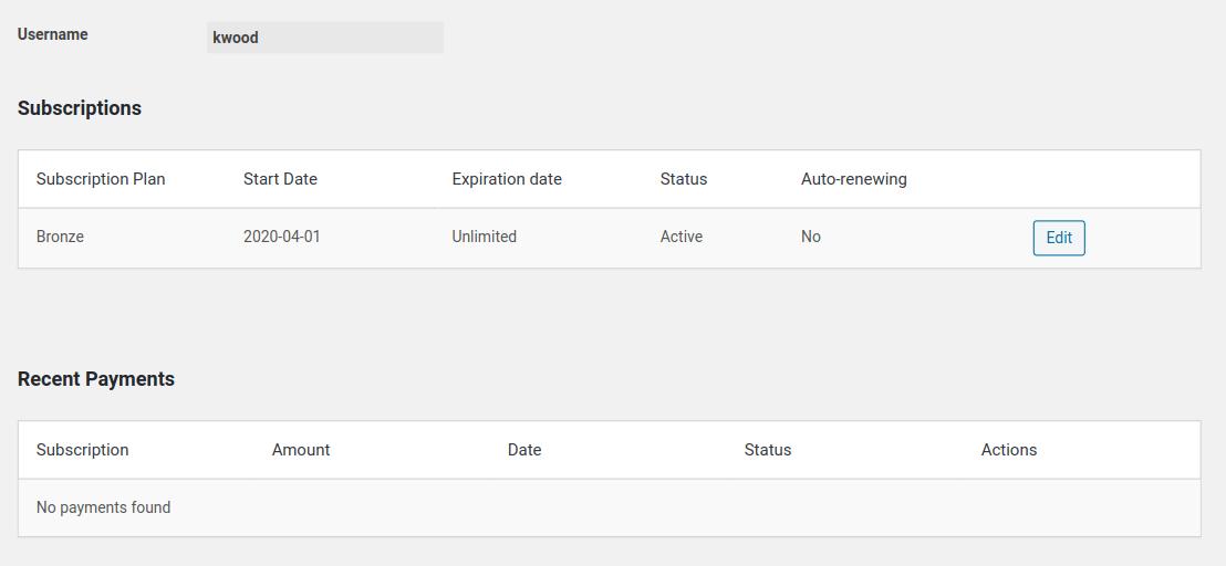 edit member profile example