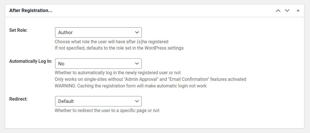 multiple registration forms set user roles