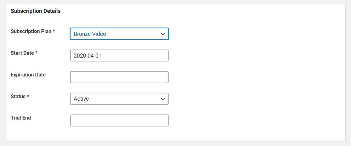 manage member subscriptions