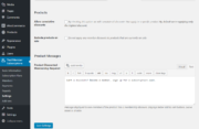 WooCommerce Integration Settings Paid Member Subscriptions