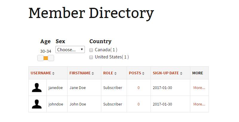 Profile Builder user directory