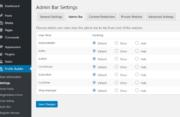 Admin Bar Settings for WordPress Profile Builder plugin