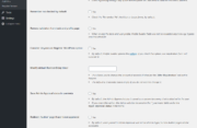 WordPress User Registration Forms Advanced Settings