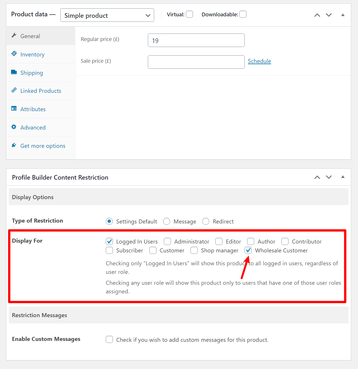 Restrict content based on WooCommerce roles