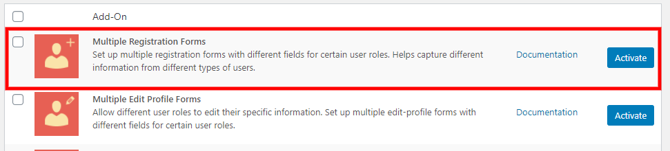 Multiple registration fields add-on for our WordPress register page