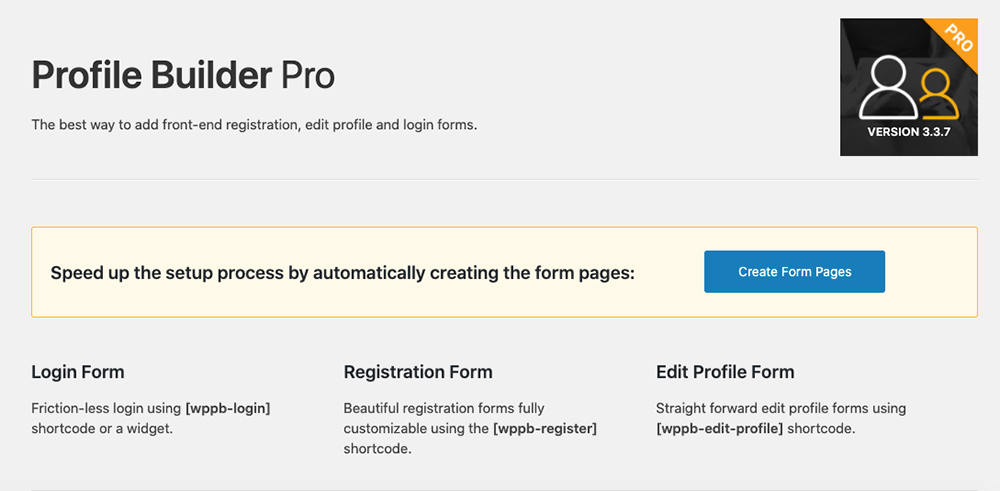 Creating form pages