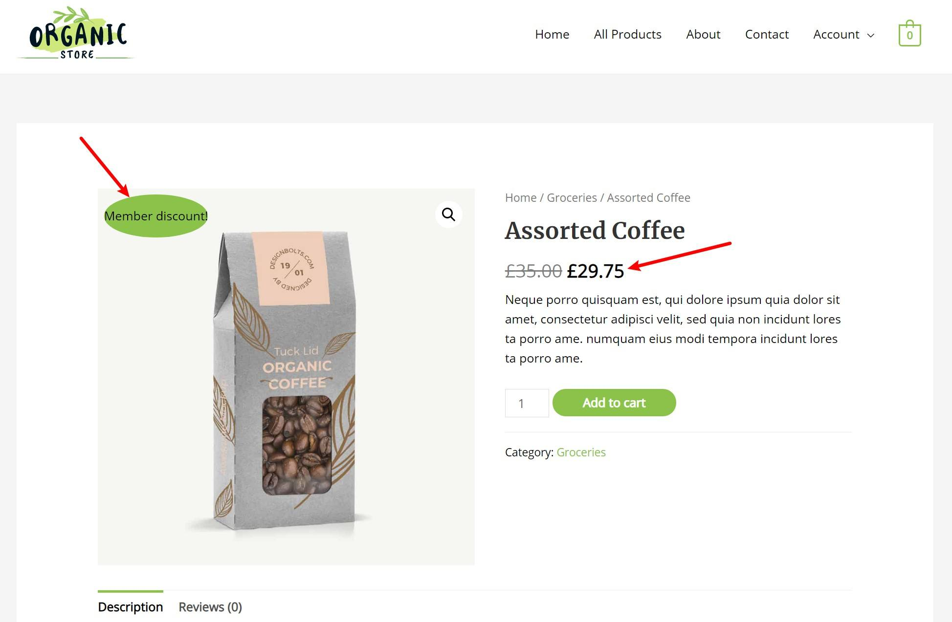 WooCommerce role-based pricing example