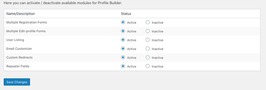 Activating User Listing Module