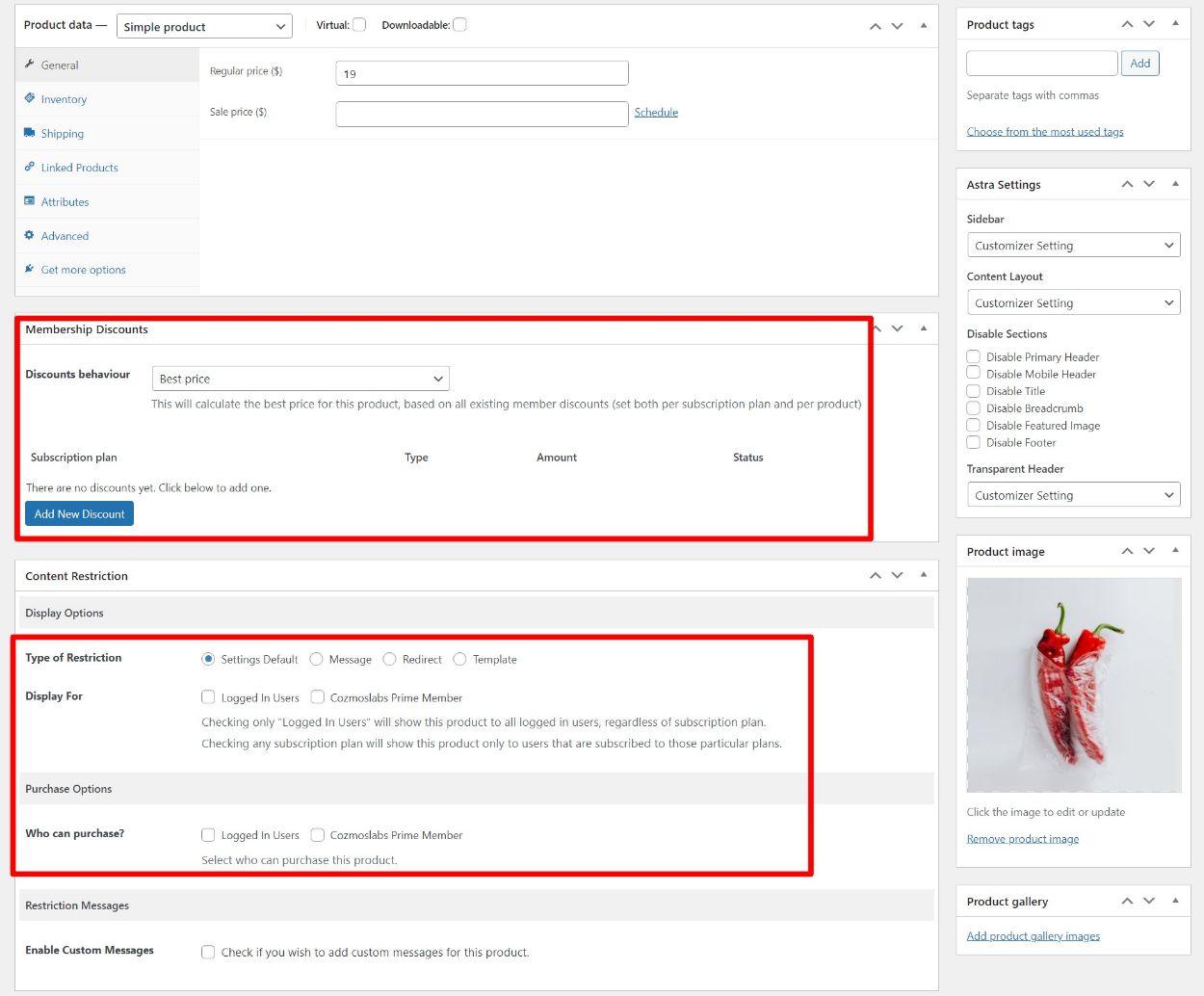PMS WooCommerce membership plugins features