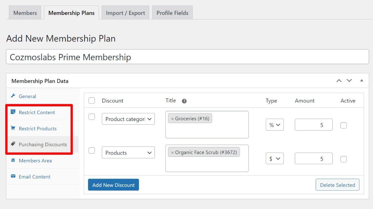 WooCommerce memberships plugin levels