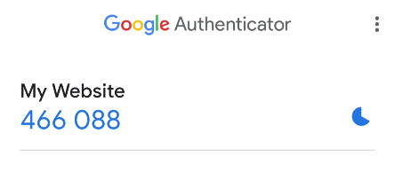 TOTP Genereted by Google Authenticaticator