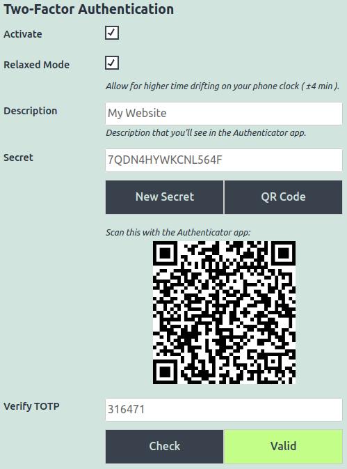 Two-Factor Authentication Edit Profile Fields
